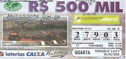 resultado da loteria federal 5473