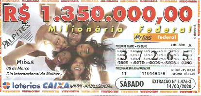 Resultado da Loteria Federal 5476