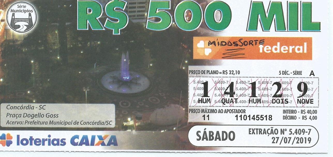 resultado Loteria Federal 5409