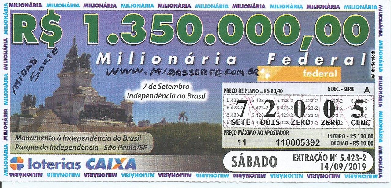 resultado da loteria federal 5423