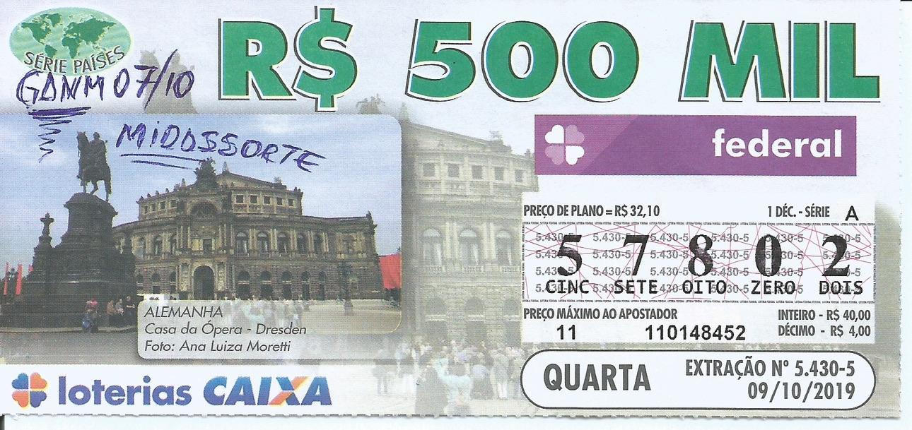 resultado da loteria federal 5430