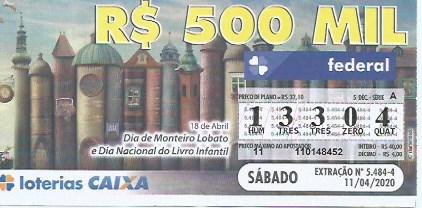 resultado da Loteria Federal 5484
