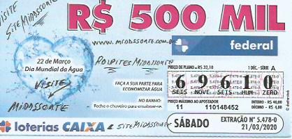 resultado da Loteria federal 5478