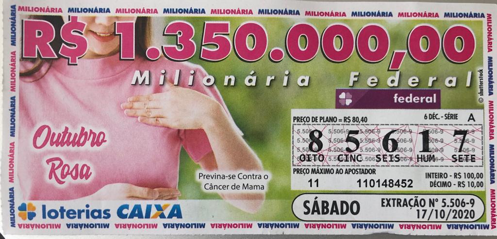 resultado da Loteria Federal 5506