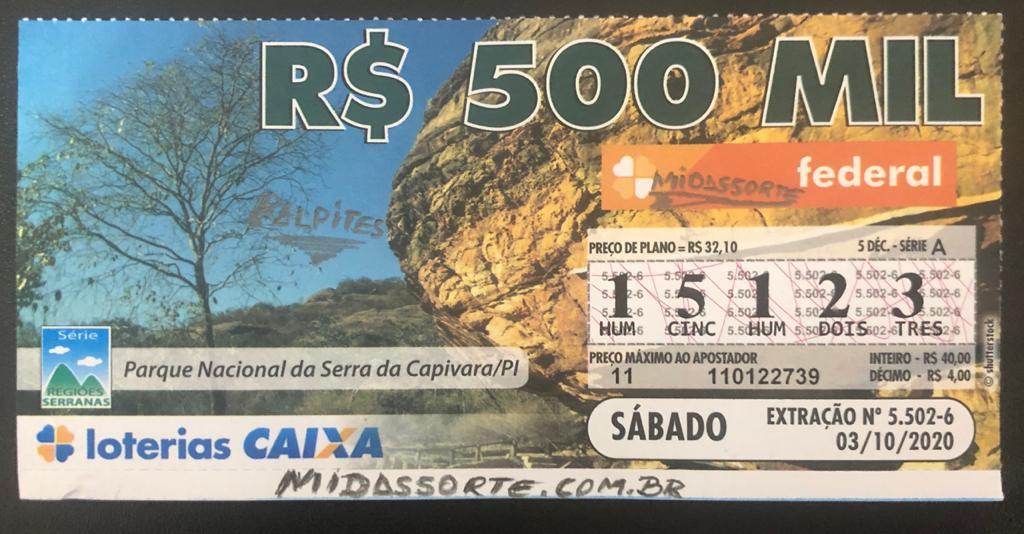 Resultado da Loteria Federal 5502