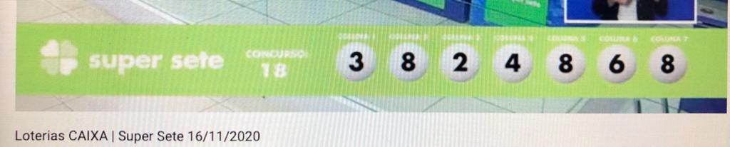 resultado da Super Sete 018