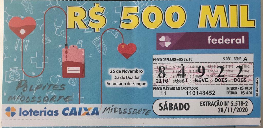 resultado da Loteria Federal 5518