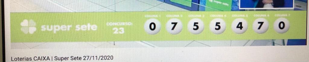 resultado da Super Sete 023