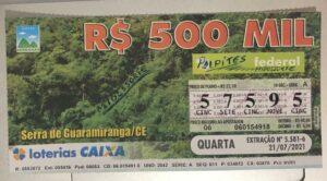 resultado da Loteria Federal 5581
